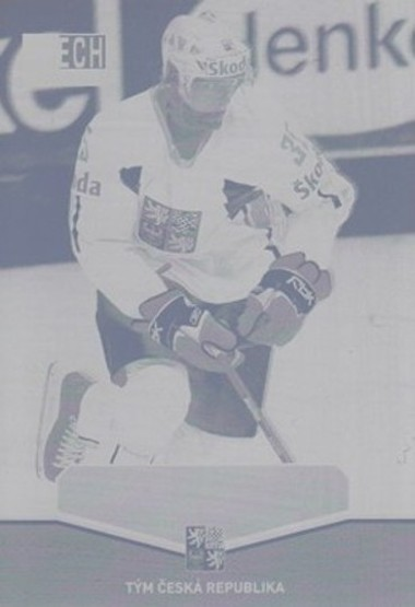 HEJDA Jan CZECH Ice Hockey Team 2015 č. 27 Printing Plate YELLOW 1/1