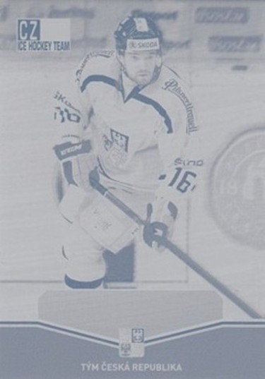 BIRNER Michal CZECH Ice Hockey Team 2015 č. 43 Printing Plate MAGENTA 1/1