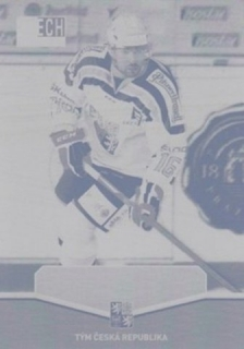 BIRNER Michal CZECH Ice Hockey Team 2015 č. 43 Printing Plate YELLOW 1/1