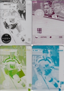 BUCHTELE Jan CZECH Ice Hockey Team 2016 č. 2 Printing Plate SET 1/1