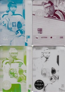 GULAŠ Milan CZECH Ice Hockey Team 2016 č. 11 Printing Plate SET 1/1