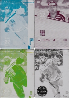 KAŠPAR Lukáš CZECH Ice Hockey Team 2016 č. 20 Printing Plate SET 1/1