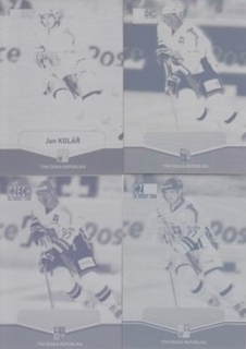 KOLÁŘ Jan CZECH Ice Hockey Team 2015 č. 8 Printing Plate SET 1/1