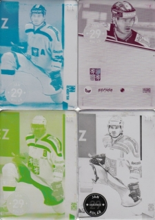 KOLÁŘ Jan CZECH Ice Hockey Team 2016 č. 22 Printing Plate SET 1/1