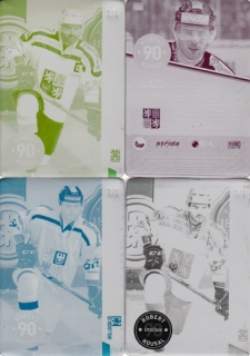 KOUSAL Robert CZECH Ice Hockey Team 2016 č. 24 Printing Plate SET 1/1