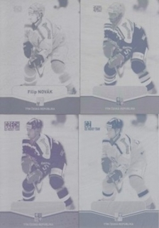 NOVÁK Filip CZECH Ice Hockey Team 2015 č. 45 Printing Plate SET 1/1