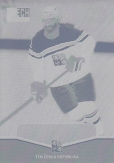 NOVOTNÝ Jiří CZECH Ice Hockey Team 2015 č. 11 Printing Plate YELLOW 1/1