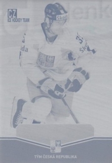 HEJDA Jan CZECH Ice Hockey Team 2015 č. 27 Printing Plate CYAN 1/1
