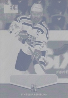 JANK Bohumil CZECH Ice Hockey Team 2015 č. 29 Printing Plate YELLOW 1/1