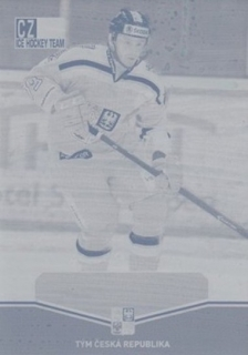 ZOHORNA Tomáš CZECH Ice Hockey Team 2015 č. 36 Printing Plate YELLOW 1/1