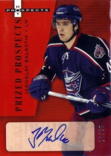BALAŠTÍK Jaroslav Hot Prospects 2005/2006 Prized Prospects Autograph Red č. 196