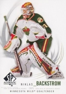 BACKSTROM Niklas UD SP Authentic 2009/2010 č. 75