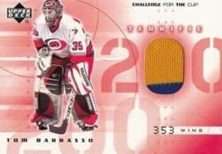 BARRASSO Tom UD Chalenge for the Cup 2001/2002 Terrific Jersey T-TB