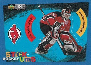 BRODEUR Martin UD Collector´s Choice 1997/1998 Stick-Ums S3