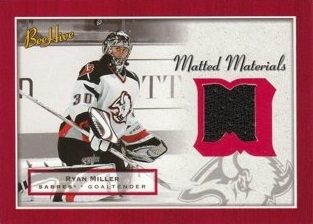 MILLER Ryan UD BeeHive 2005/2006 Matted Materials Jersey MM-RM