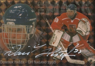 HAŠEK Dominik HSHW 2011 The MASK DH-OH NAGANO Gold Autograph 1/1