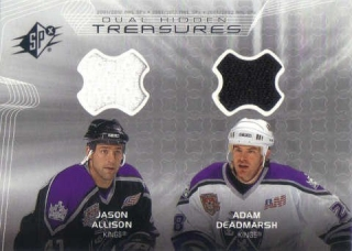 ALLISON DEADMARSH UD SPx 2001/2002 Dual Hidden Treasures Jersey
