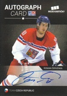 ČERVENKA Roman CZECH Ice Hockey Team 2017 Autograph Card S2 /10
