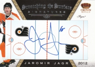 JÁGR Jaromír Panini Crown Royale 2011/2012 Scratching the Surface Auto č. 48