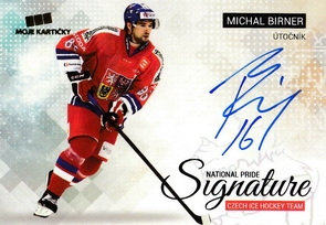 BIRNER Michal Czech Ice Hockey Team 2018 National Pride Signature č. 2 Gold /10