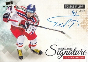 FILIPPI Tomáš Czech Ice Hockey Team 2018 National Pride Signature č. 6 Gold /10