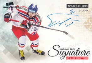 FILIPPI Tomáš Czech Ice Hockey Team 2018 National Pride Signature č. 6 Silver /20