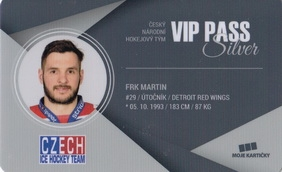 FRK Martin Czech Ice Hockey Team 2018 VIP Pass Silver č. 10