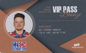 KAŠE David Czech Ice Hockey Team 2018 VIP Pass Bronze č. 13