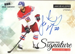KLEPIŠ Jakub Czech Ice Hockey Team 2018 National Pride Signature č. 13 Silver /20