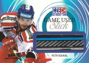 KOUKAL Petr Czech Ice Hockey Team 2018 Game Used Stick GU PK /25