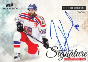 KOUSAL Robert Czech Ice Hockey Team 2018 National Pride Signature č. 39 Silver /20