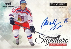 MERTL Tomáš Czech Ice Hockey Team 2018 National Pride Signature č. 21 Silver /20