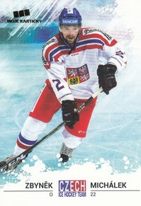 MICHÁLEK Zbyněk Czech Ice Hockey Team 2018 č. 25