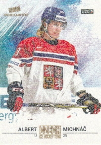 MICHNÁČ Albert Czech Ice Hockey Team 2018 č. 26 Gold Rainbow /5