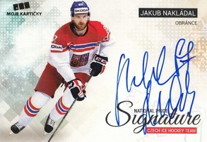 NAKLÁDAL Jakub Czech Ice Hockey Team 2018 National Pride Signature č. 24 Gold /10