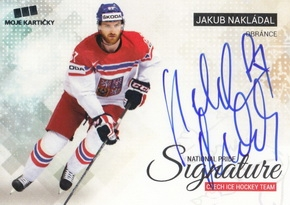 NAKLÁDAL Jakub Czech Ice Hockey Team 2018 National Pride Signature č. 24 Silver /20