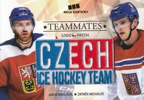 NAKLÁDAL MICHÁLEK Czech Ice Hockey Team 2018 Teammates Logo Patch č. 6 /50