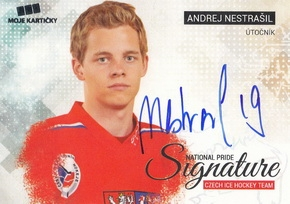 NESTRAŠIL Andrej Czech Ice Hockey Team 2018 National Pride Signature č. 27 /20