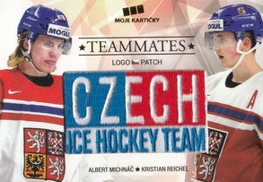 MICHNÁČ REICHEL Czech Ice Hockey Team 2018 Teammates Logo Patch č. 8 /50