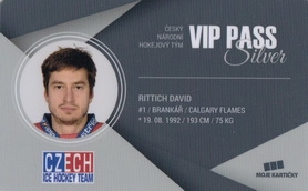 RITTICH David Czech Ice Hockey Team 2018 VIP Pass Silver č. 6