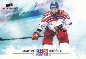 RŮŽIČKA Martin Czech Ice Hockey Team 2018 č. 34