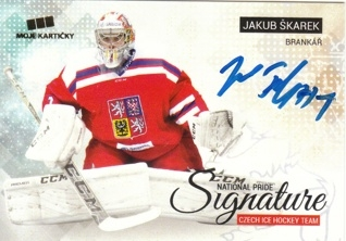 ŠKAREK Jakub Czech Ice Hockey Team 2018 National Pride Signature č. 33 Gold /10