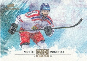 VONDRKA Michal Czech Ice Hockey Team 2018 č. 41 Gold Rainbow /5