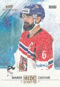 ZACHAR Marek Czech Ice Hockey Team 2018 č. 43 Gold Rainbow /5
