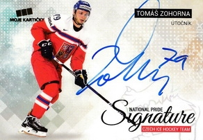 ZOHORNA Tomáš Czech Ice Hockey Team 2018 National Pride Signature č. 38 Gold /10