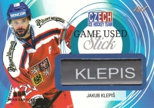 KLEPIŠ Jakub Czech Ice Hockey Team 2018 Game Used Stick JK 1of1