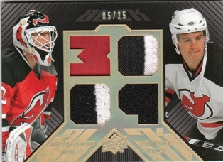BRODEUR PARISE UD Black 2008/2009 Dual Patch BDJ2-BP 05/25