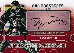 BARTOŠÁK Patrik Between the Pipes 2012/2013 Autograph A-PB