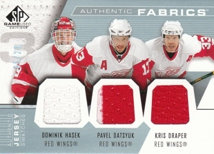HAŠEK Dominik UD SP Game Used 2007/2008 Authentic Fabrics Jersey AF3-HDD 05/25
