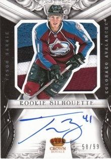 BARRIE Tyson Panini Rookie Anthology 2012/2013 Silhouette č. 45 AUTO PATCH 58/99